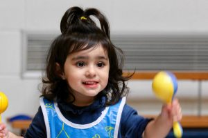 toddler groups in Worcester child with marakas