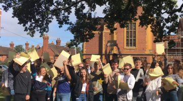 Group waving 2019 Alevels