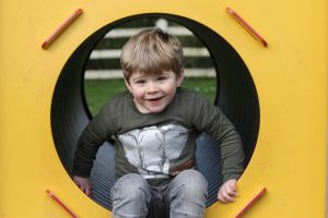 Acorns toddler group child playing outside