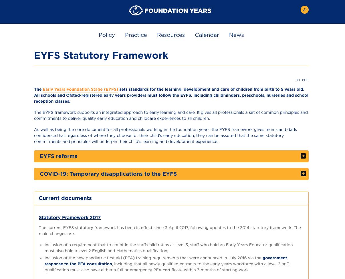 EYFS Profile Framework Handbook