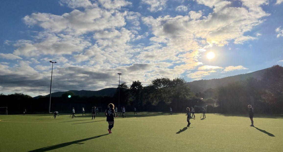 Hockey in the September sun